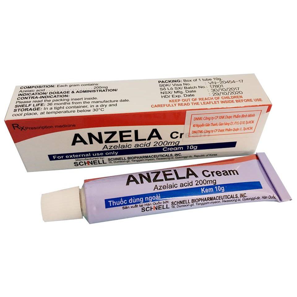 Kem trị mụn thâm Anzela Cream