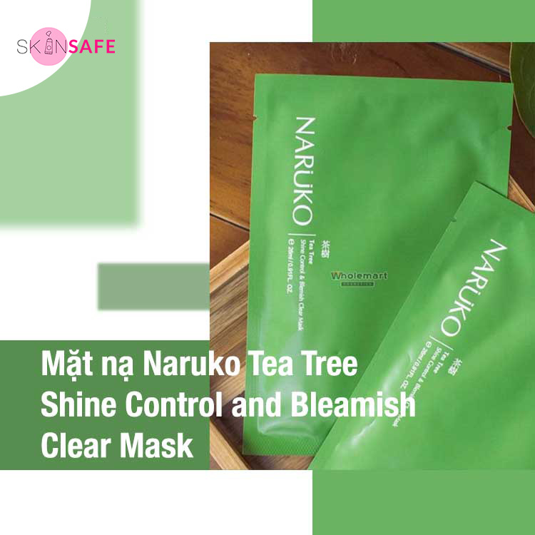 Mặt nạ dưỡng da Naruko Tea Tree Shine Control and Bleamish Clear Mask