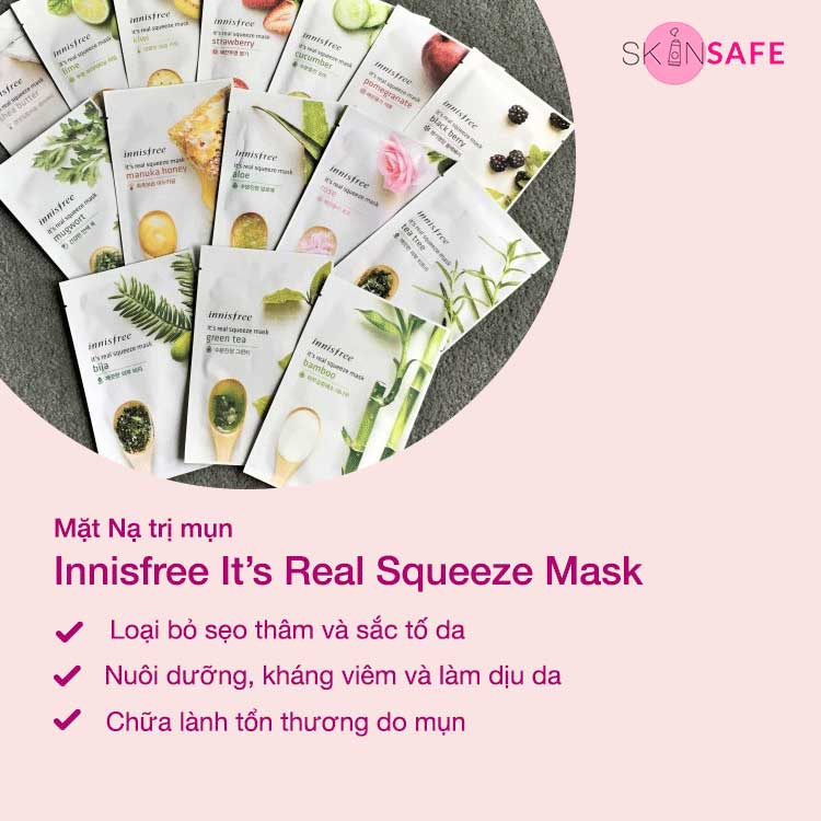 Mặt Nạ trị mụn Innisfree It's Real Squeeze Mask