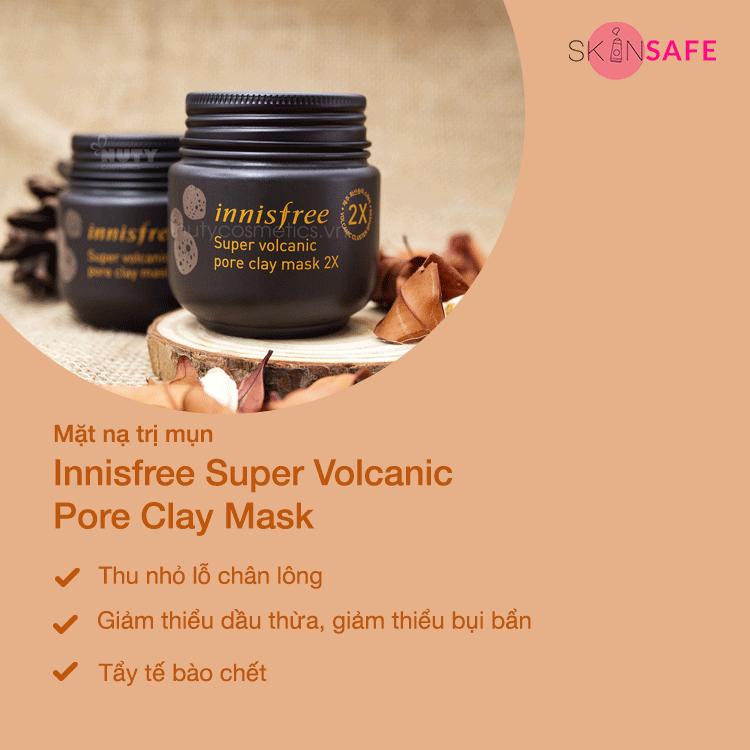 Mặt nạ trị mụn Innisfree Super Volcanic Pore Clay Mask