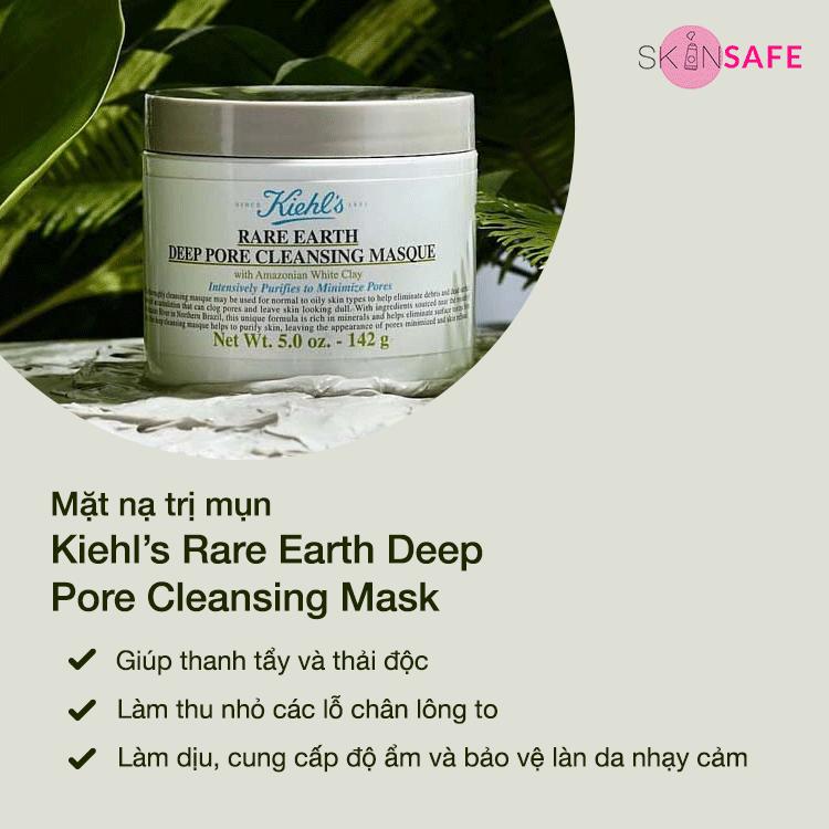 Mặt nạ trị mụn Kiehl's Rare Earth Deep Pore Cleansing Mask