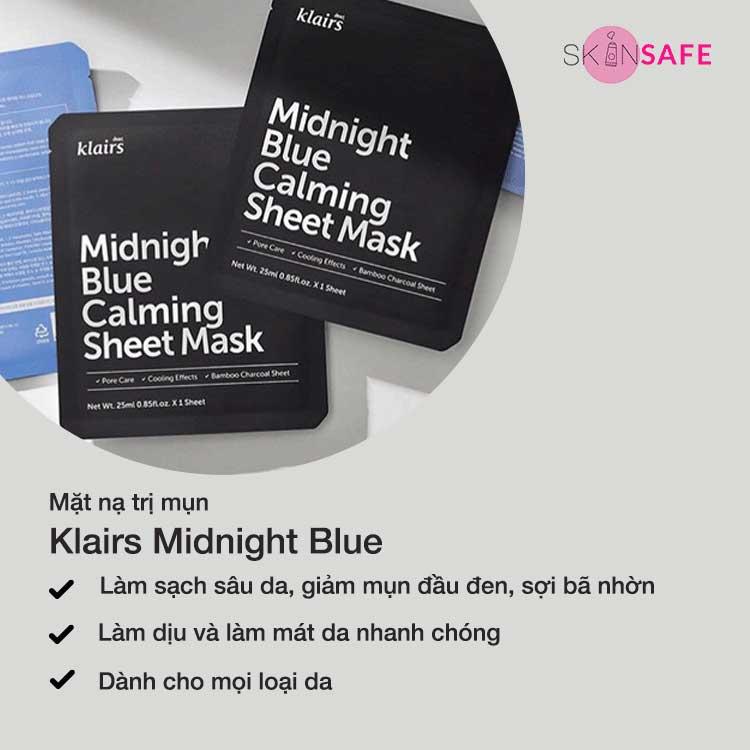 Mặt nạ trị mụn Klairs Midnight Blue