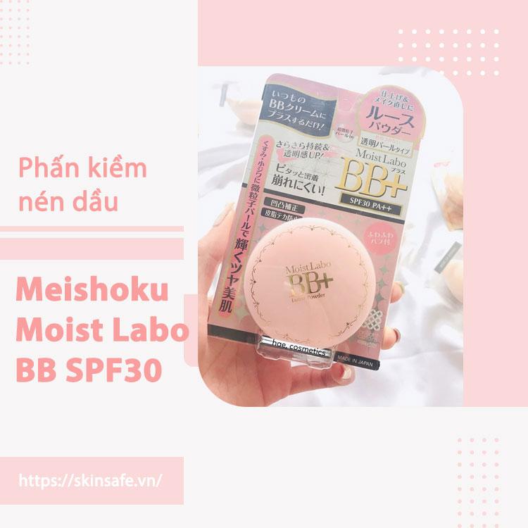 Phấn phủ kiềm dầu Meishoku Moist Labo BB SPF30
