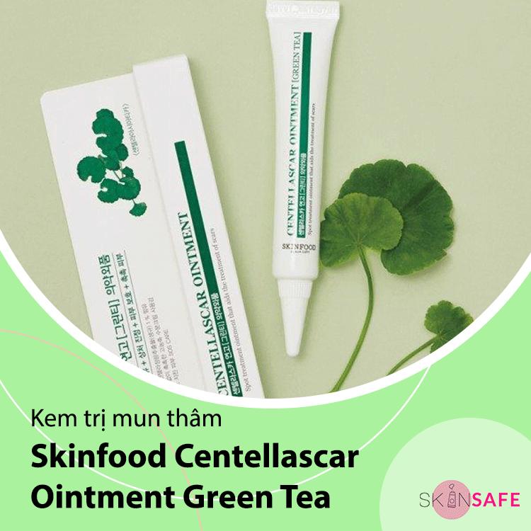 Sản phẩm trị mụn Skinfood Centellascar Ointment Green Tea