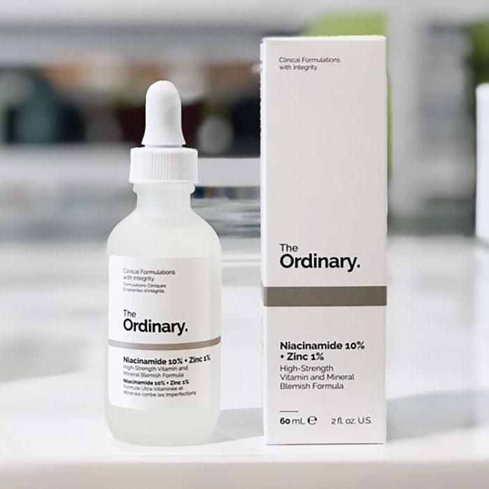 Serum The Ordinary Niacinamide 10% + Zinc 1%  se khít lỗ chân lông