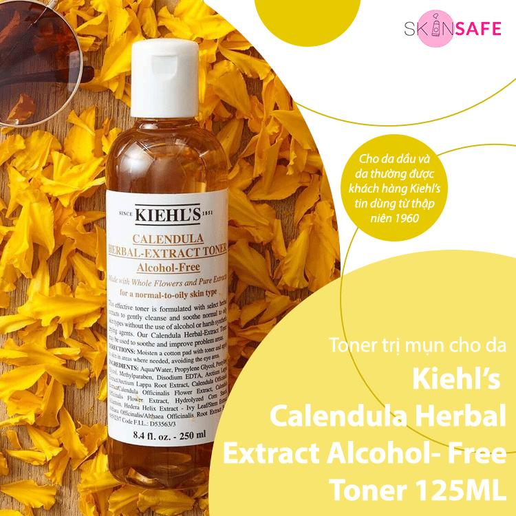 Toner trị mụn Kiehl's Calendula Herbal Extract Alcohol- Free Toner 125ML