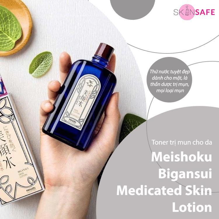 Toner cho da mụn Meishoku Bigansui Medicated Skin Lotion