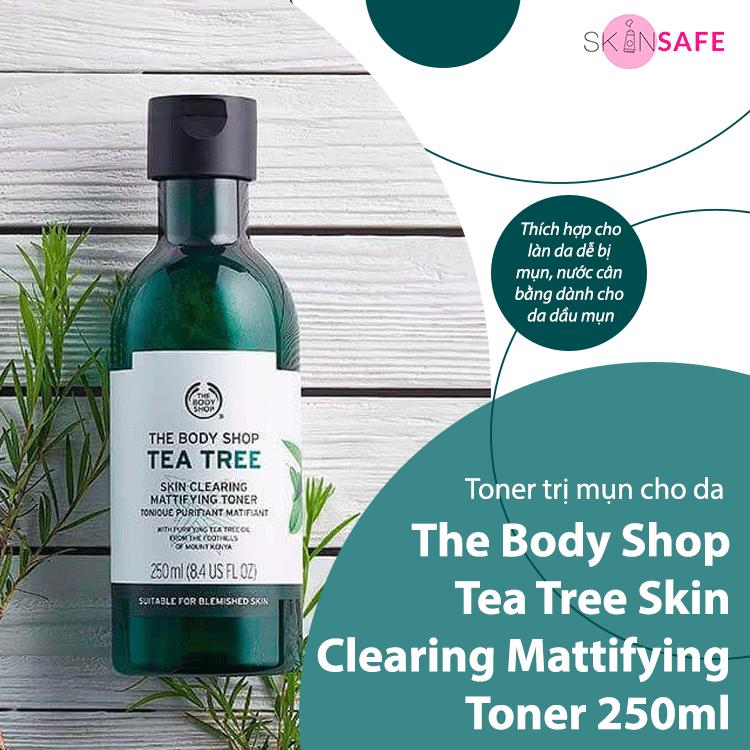 Toner trị mụn The Body Shop Tea Tree Skin Clearing Mattifying Toner 250ml