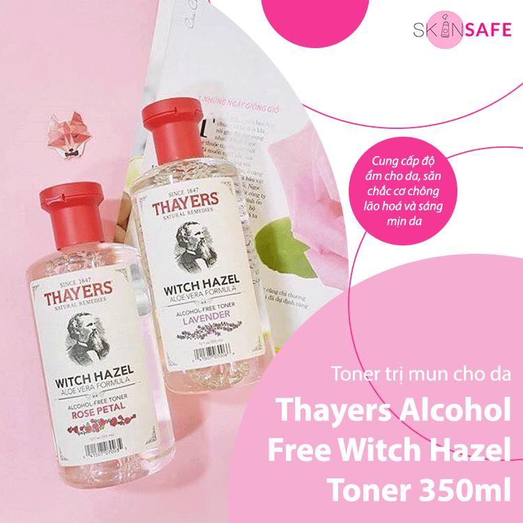 Toner trị mụn Thayers Alcohol Free Witch Hazel Toner 350ml